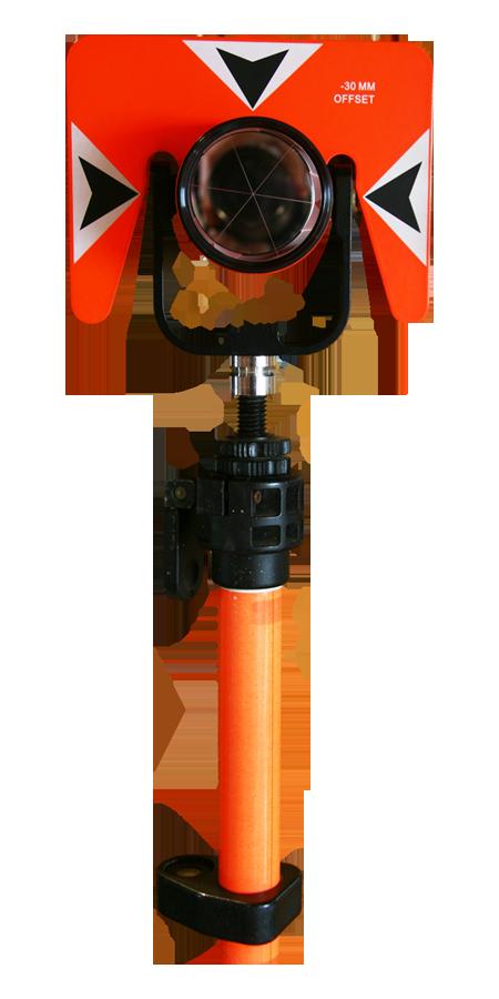 Prisma circular con soporte met lico topmart topograf a for Prisma circular